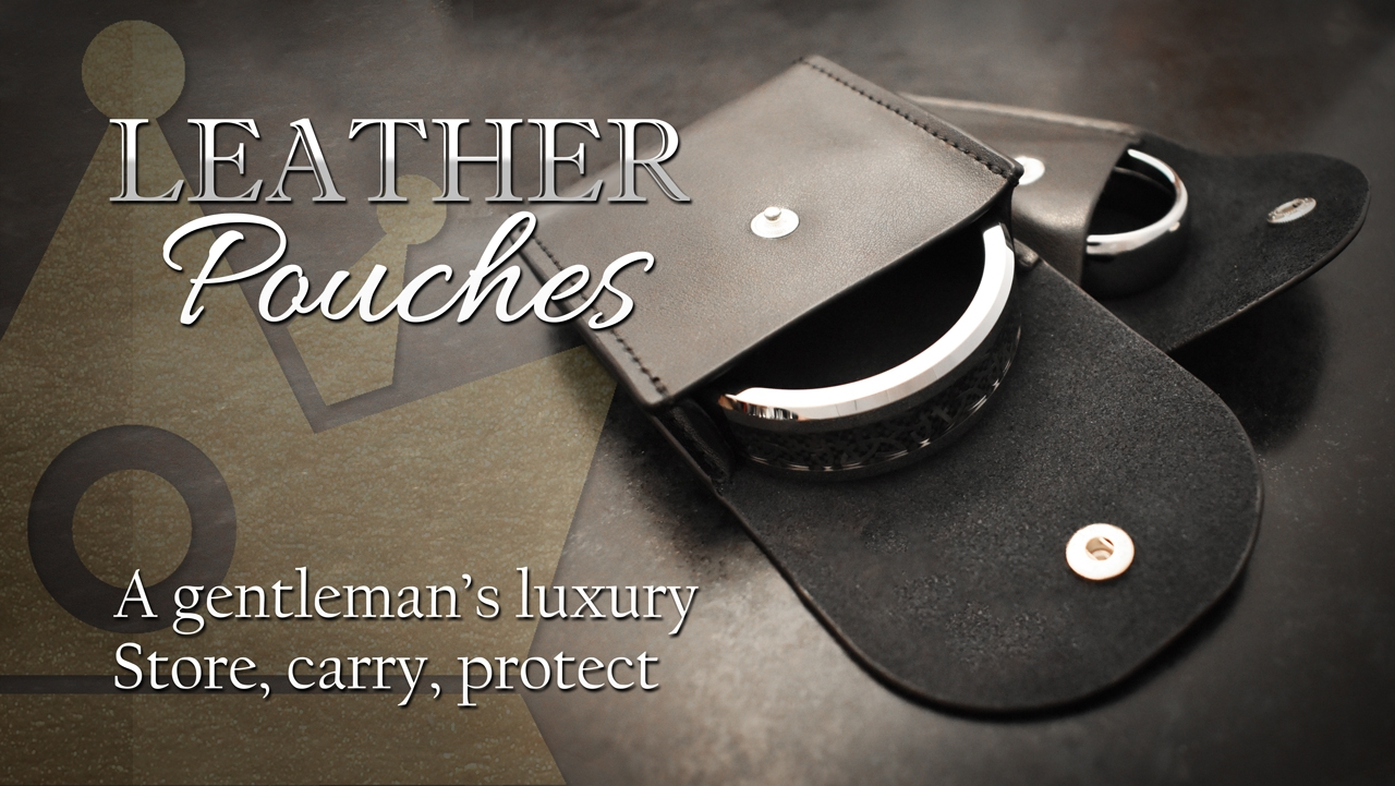 Leather Cock Ring Pouches